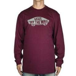 OTW LONG SLEEVE BURGUNDY/WHITE