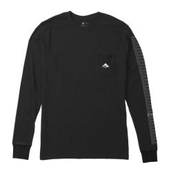 TEAM POCKET LS TEE BLACK