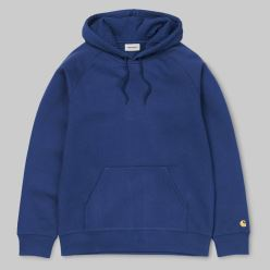 HOODED CHASE SWEAT METRO BLUE GOLD 18