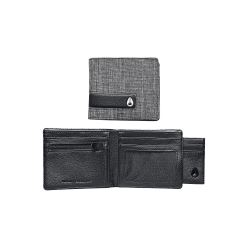 SHOWTIME BI-FOLD ID ZIP WALLET BLACK WASH