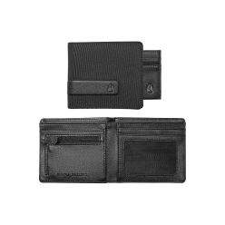 SHOWTIME BI-FOLD ID ZIP WALLET BLACK NYLON