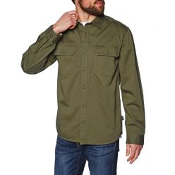 M'S L/S FOUR CANYONS TWILL SHIRT CARGO