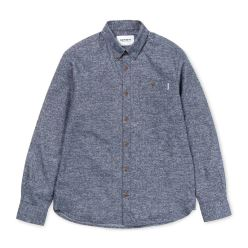 L/S CRAM SHIRT COTTON DARK NAVY