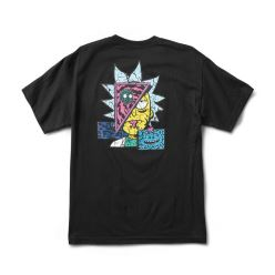 PRIMITIVE T-SHIRT R & M II RICK DESTRUCTED BLACK