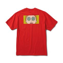 PRIMITIVE T-SHIRT R & M II MORTY HYPNO EYES RED