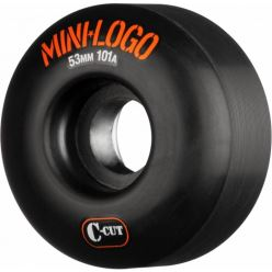MINI LOGO WHEELS C CUT 101A BLACK