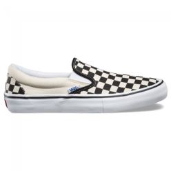 SLIP ON PRO BLACK WHITE