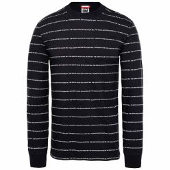 L/S STRIPES TEE TNF BLACK