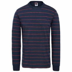 L/S STRIPES TEE URBAN NAVY
