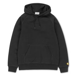 HOODED CHASE SWEAT BLACK GOLD