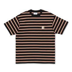 HOUSTON POCKET T-SHIRT BLACK STRIPE