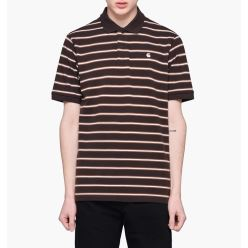 S/S HOUSTON POLO STRIPE BLACK