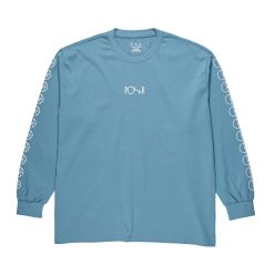 LONG SLEEVE RACING GREY BLUE