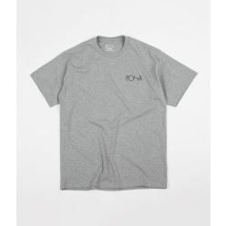 T SHIRT FILL LOGO HEATHER GREY BLACK