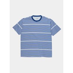 T SHIRT STRIPE LOGO DARK BLUE
