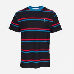 SCREAMING MINI HAND STRIPE TEE BLACK