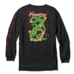 T-SHIRT DBZ SHENRON CLUB LS BLACK