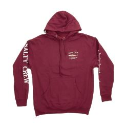 BRUCE HOOD FLEECE BURGUNDY
