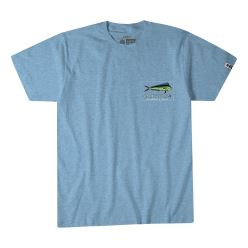 EL DORADO TEE LIGHT BLUE HEATHER