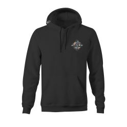 ISLAND TIME HOOD FLEECE BLACK