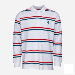 SCREAMING MINI HAND STRIPE LS/POLO WHITE