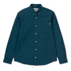 L/S DALTON SHIRT DARK NAVY PIZOL HEAVY
