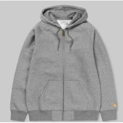 HOODED CHASE JACKET GREY HEATHER GOLD