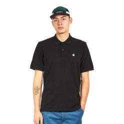 S/S CHASE PIQUE POLO BLACK GOLD