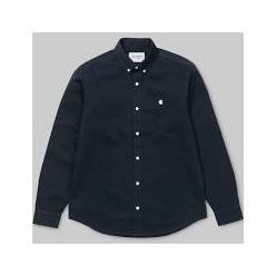 L/S MADISON SHIRT COTTON LEATHER/DARK NAVY