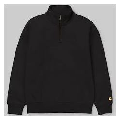CHASE NECK ZIP SWEAT BLACK GOLD