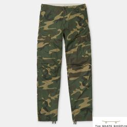 AVIATION PANT CAMO LAUREL RINSED