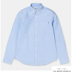 L/S BUTTON DOWN POCKET SHIRT BLEACH