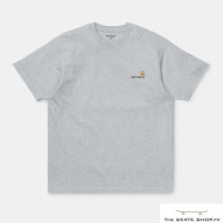 S/S AMERICAN SCRIPT T SHIRT ASH HEATHER