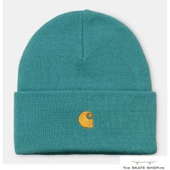 CHASE BEANIE FROSTED TURQUOISE/ GOLD