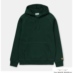 HOODED CHASE SWEAT BOTTLE GREEN/GOLD