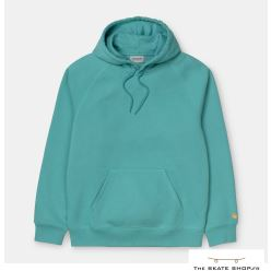HOODED CHASE SWEAT FROSTED TURQUOISE
