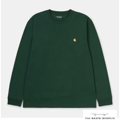 L/S CHASE T-SHIRT BOTTLE GREEN/GOLD