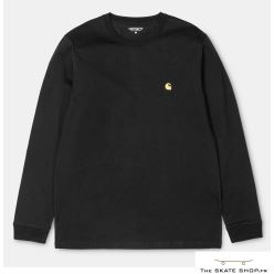 L/S CHASE T-SHIRT BLACK/GOLD