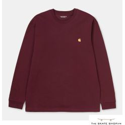 L/S CHASE T-SHIRT BORDEAUX/GOLD