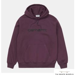 HOODED CARHARTT BOYSENBERRY/BLACK