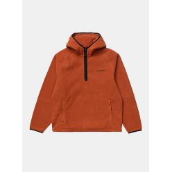 HOODED BEAUMONT HALF ZIP SWEAT CINNAMON BLACK