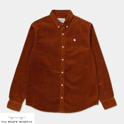 L/S MADISON CORD SHIRT BRANDY WAX