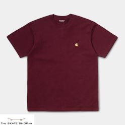 S/S CHASE T-SHIRT BORDEAUX/GOLD