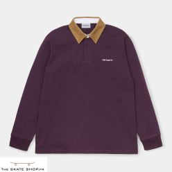 L/S CORD RUGBY POLO BOYSNBERRY/HAMILTON BROWN