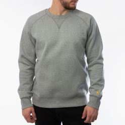 CHASE SWEAT GREY HEATHER GOLD